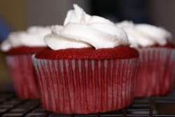 Tasty red velvet cupcakes