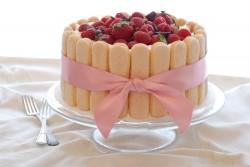 Tiramisu with berries cake