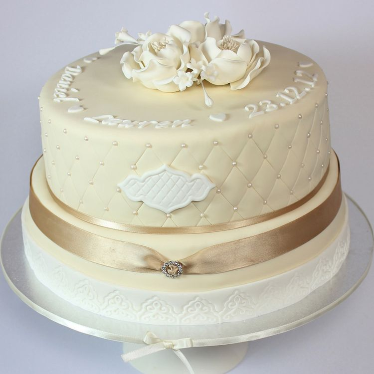 White engagement cake