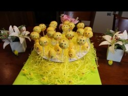 How to make Easter Chicken Cake Pops