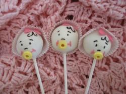Cristening Baby cake pops