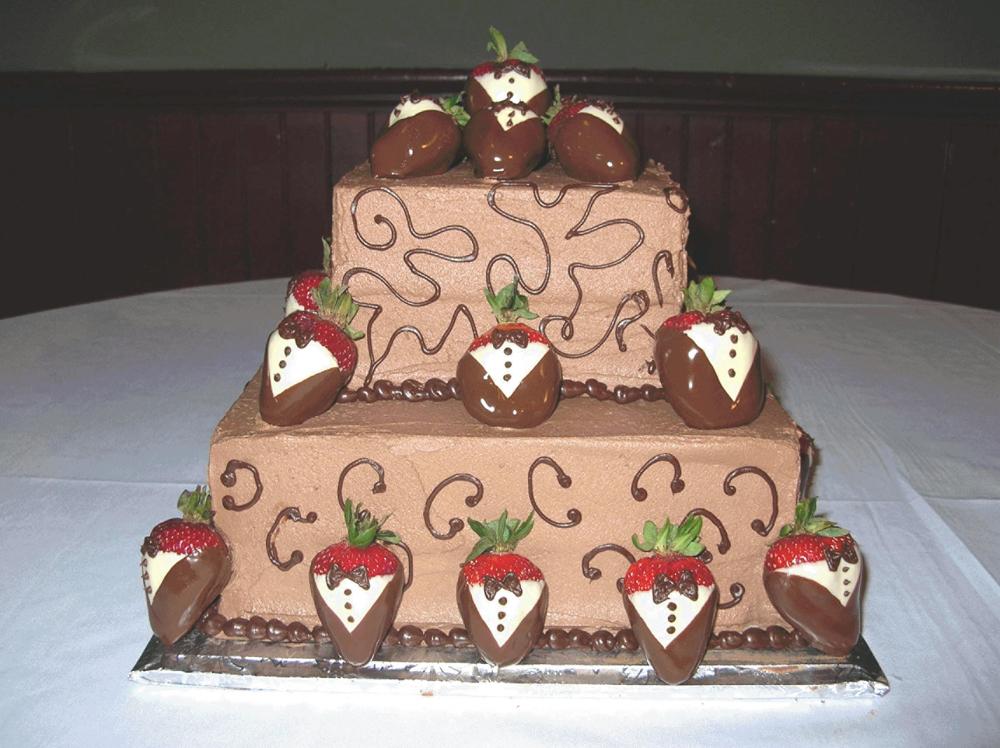 Chocolate Fishing Grooms Cakes