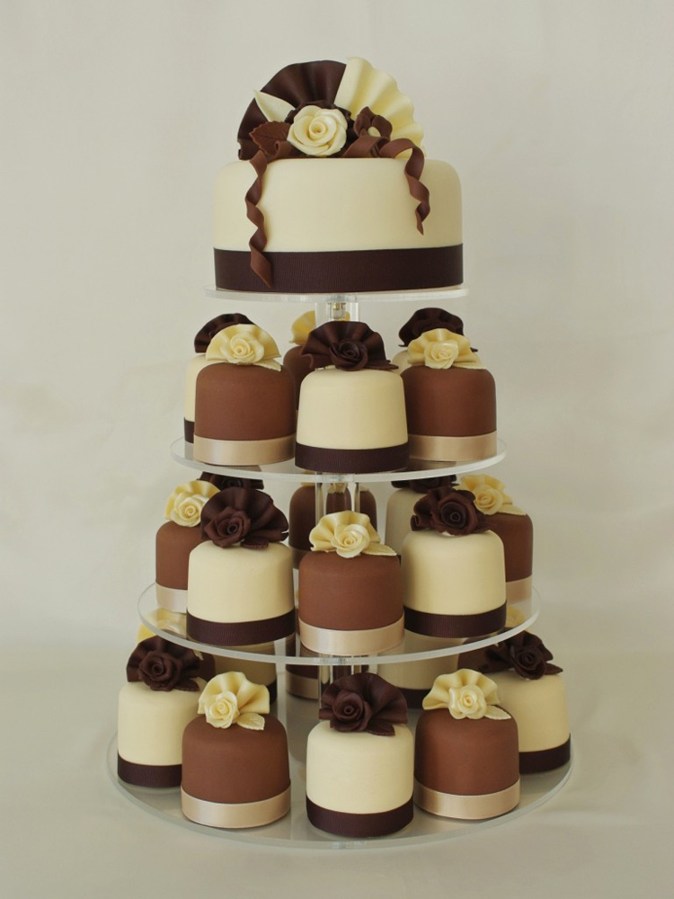 mini wedding cake towers chocolates mini cake s tower 17437