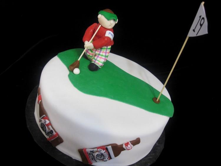 Groom's cake with golfer boy