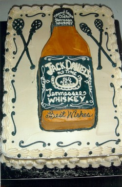 Groom's cake with Whiskey