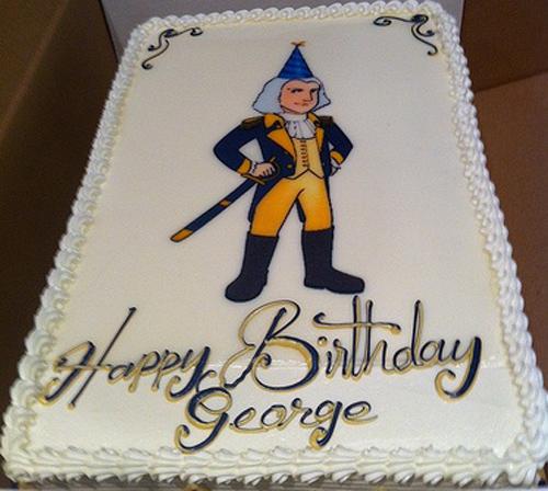 President Washington birthday cake