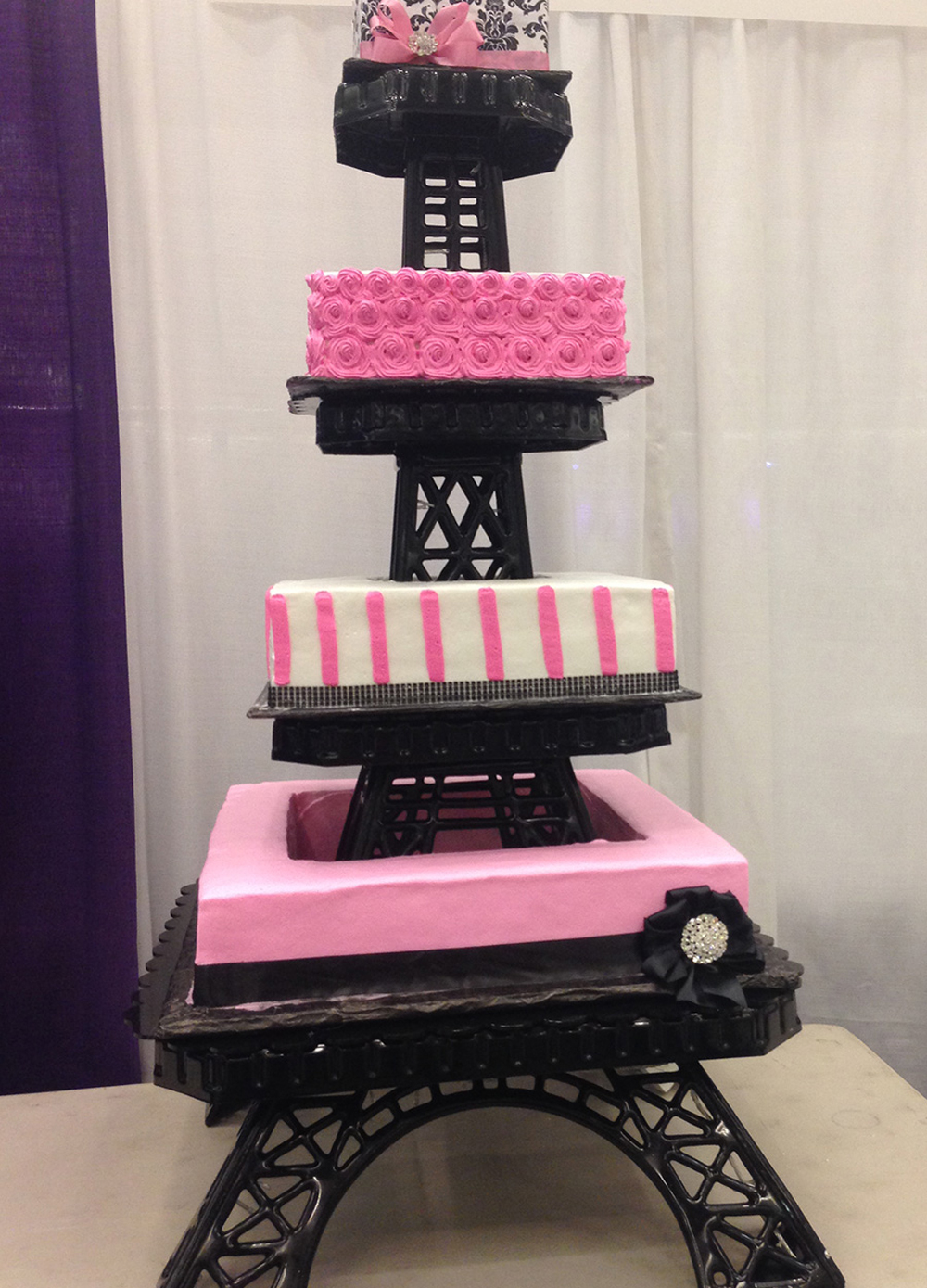 Quinceanera cake Eiffel tower