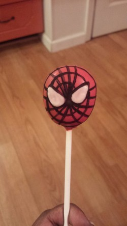 Spider man cake pop