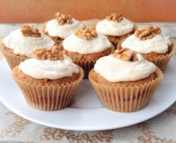 Tasty carrot cupcakes