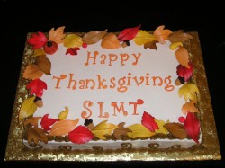 Thanksgiving cake with leaves
