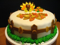 Thanksgiving day cake