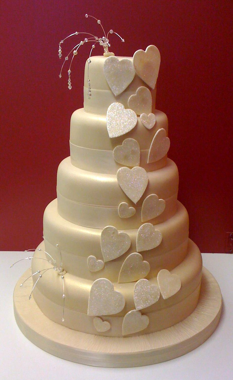 Heart wedding cake pictures Cached