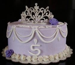 5th birthday princess cake