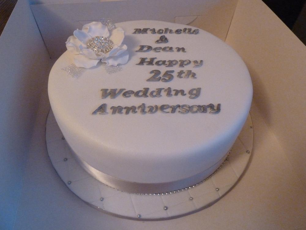 Anniversary Cake Silver Wedding