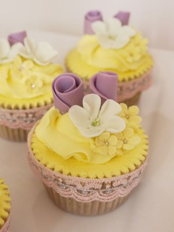 Beautiful lemon cupcakes