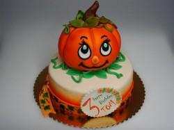 Birthday pumpkin cake