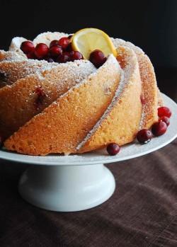 Bundt cake with cranberries