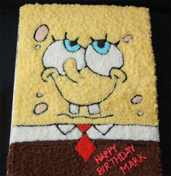 Cake – thinking Spongebob