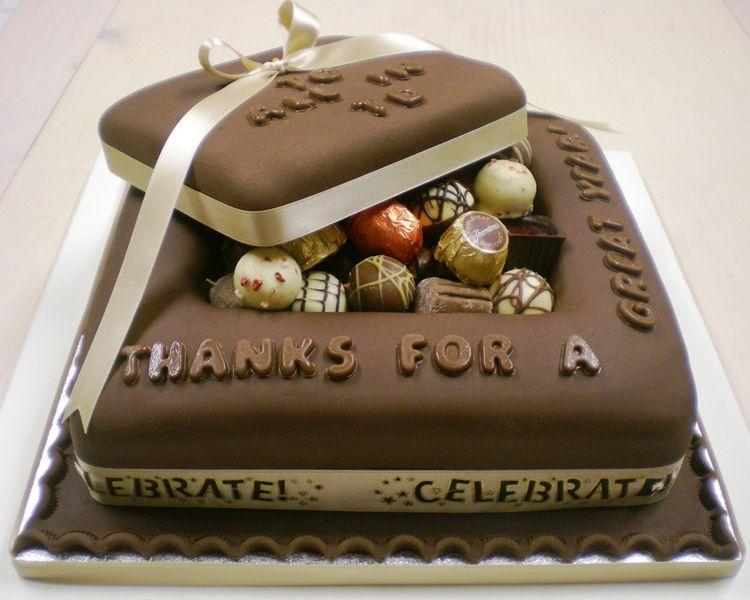 Chocolate Cake Designs For Anniversary : Chocolate Anniversary cake