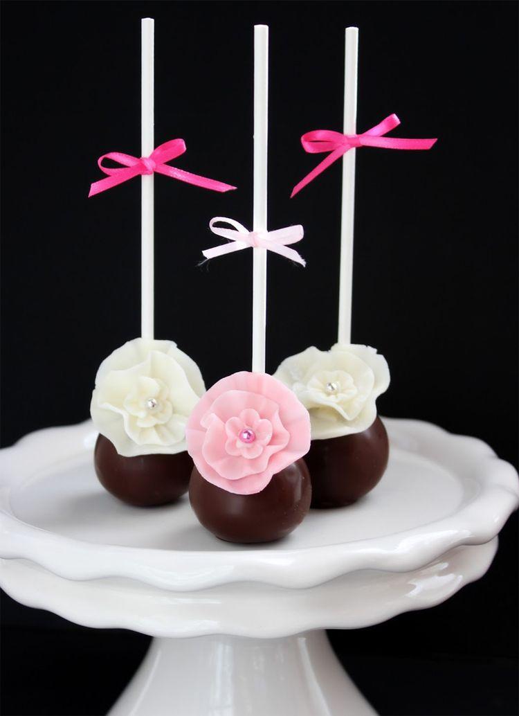 chocolate wedding cake pops. Black Bedroom Furniture Sets. Home Design Ideas