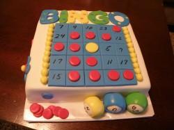 Fondant cake bingo