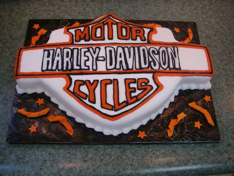 Harley Davidson groom's cake