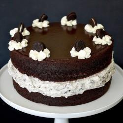 Oreo cake with mini oreo