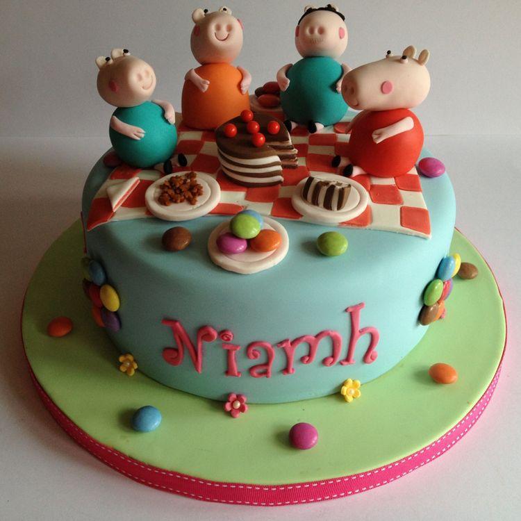 peppa pig cake template free - birthday cake eating peppa pig