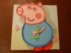 Peppa pig shape cake