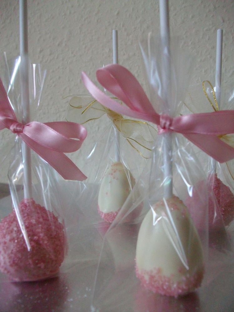 pink cake pops pink wedding cake pops pink favors - pink cake pops ...