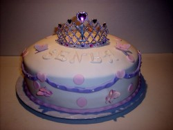 Princess cake with butterflies