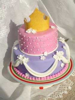 Princess cake with flowers crown