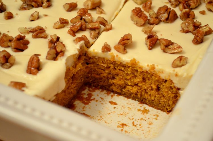 Pumpkin cake with  nuts