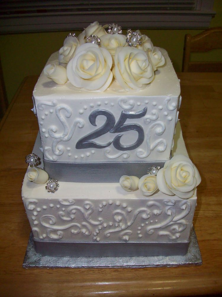 Cake designs for silver wedding anniversary perfectend