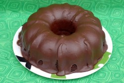 Sponge chocolate bundt cake