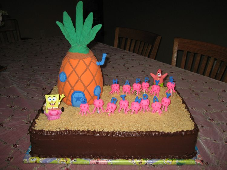Spongebob birthday cakes ideas