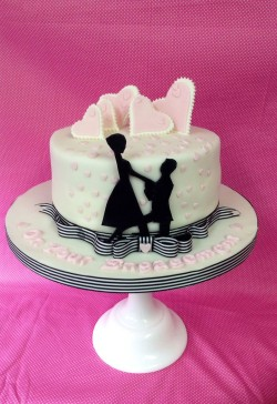 Sweet engagement cake