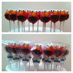 Sweet gift – Elmo cake pops
