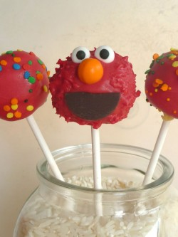 Tasty Elmo cake pops
