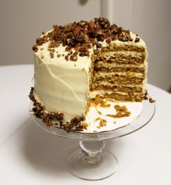 Tasty pumpkin cake