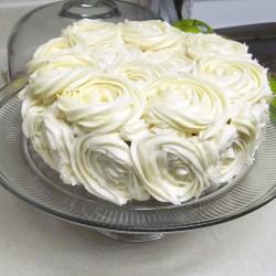 Vanilla frosting cake