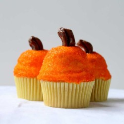 Beautiful pumpkin cupcakes