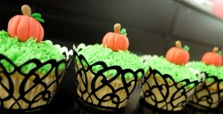 Cute pumpkin cupcakes