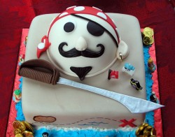 Pirate Birthday cake for kids
