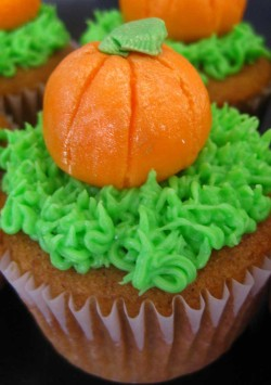 Tasty pumpkin cupcake