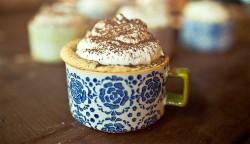 Tiramisu cupcake in the cup