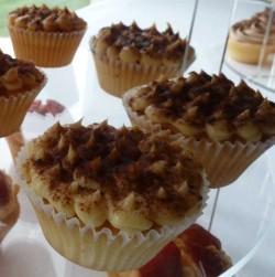 Traditional tiramisu cupcakes