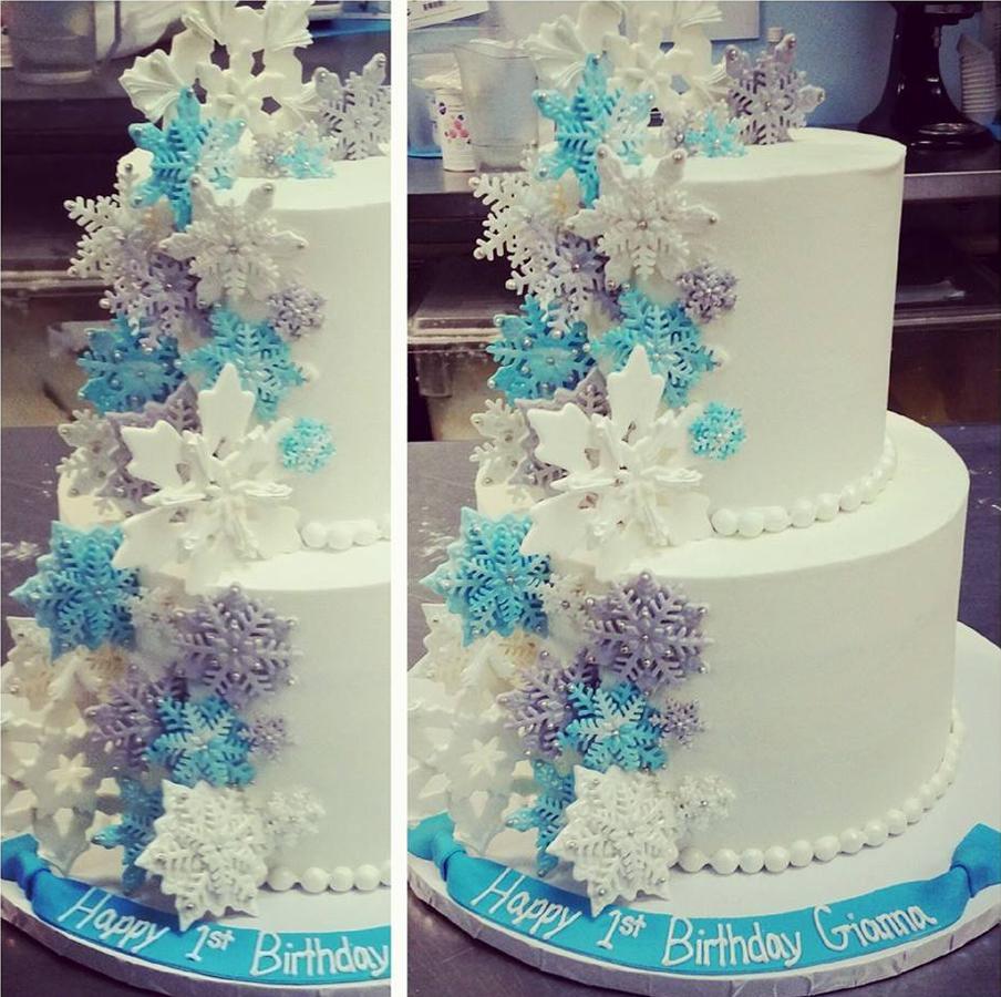 Awesome winter Birthday cake
