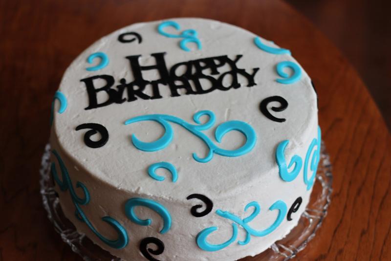 Birthday cricut cake
