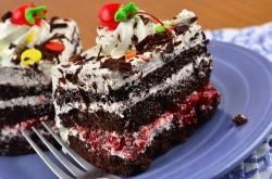Black forest cake's slices